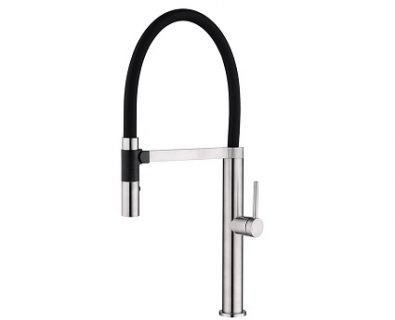 Spin Pull Down Sink Mixer (Brushed Nickel)>