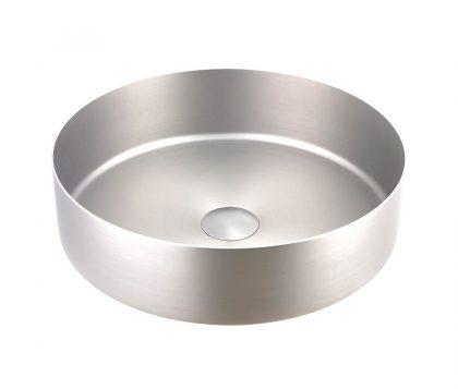 Stella Round Stainless Steel Basin 360mm (Brushed Nickel)