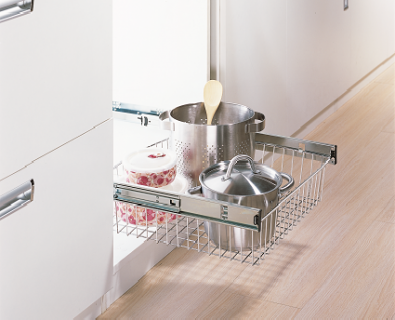 Single Drawer Side Mount Basket>