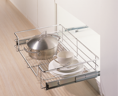 Pull Out 4-Sided Wire Basket>