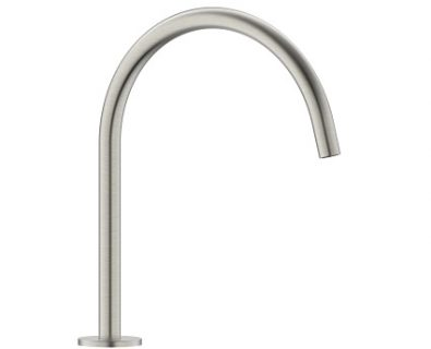 Spin Round Swivel Hob Spout (Brushed Nickel)>