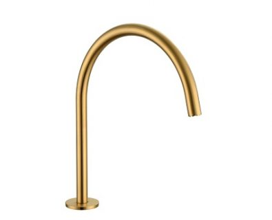 Spin Round Swivel Hob Spout (Brushed Brass)>