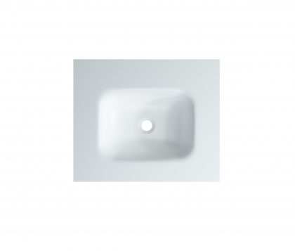 FLOW Solid Surface Vanity Top, w/ Integrated Basin 600mm Matte White