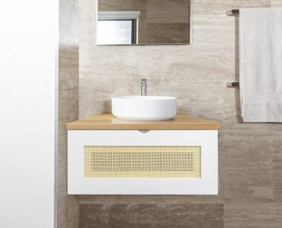 Beechmont Wall Hung Vanity Matte White 600mm>