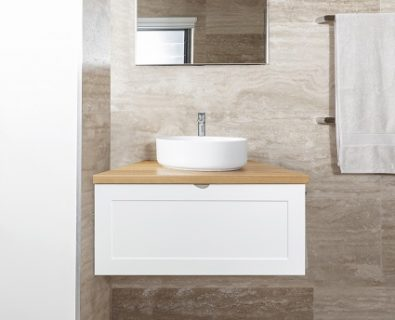 Boston Wall Hung Vanity Matte White 600mm>
