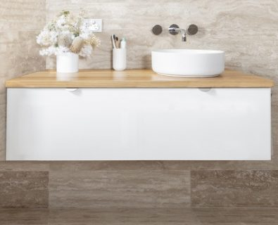 Eden Wall Hung Vanity Matte White 1200mm>