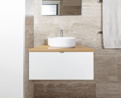 Eden Wall Hung Vanity Matte White 600mm>