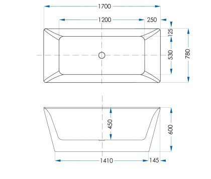 Valerio Freestanding Bath 1700mm Tech