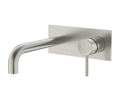 Spin In Wall Basin Mixer (Brushed Nickel)>