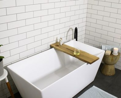 ROSE Bath Caddy White Oak>