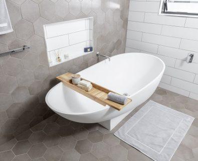 LILY Bath Caddy White Oak>