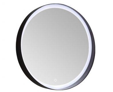Chiara Round LED Mirror w/ Matte Black Frame 800mm>