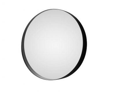 Chiara Round Mirror w/ Frame 800mm Matte Black>