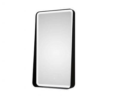 Zane Rectangle LED Mirror w/ Matte Black Frame 500x900mm>