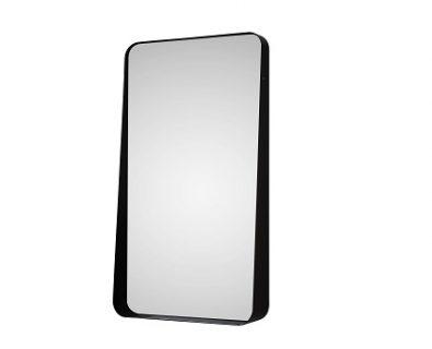 Zane Rectangle Mirror w/ Frame 500x900mm Matte Black>