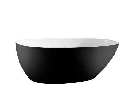 LUCINI Freestanding Bath Matte Black Outer 1500mm