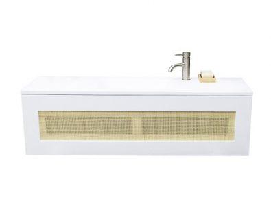 BEECHMONT Slim Wall Hung Vanity 1200mm Matte White>