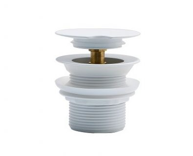 TURN DOWN Bath Waste Without Overflow Matte White 60x45mm>