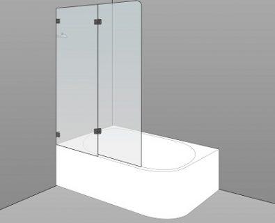 Bath Screen Kit 1100x1500x8mm>