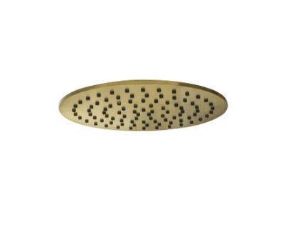 Monsoon Round Shower Head 250mm (Brushed Brass)>