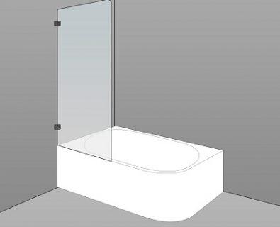 Bath Screen Kit 700x1500x8mm>