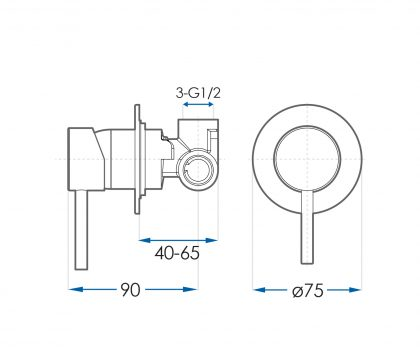 SPIN In Wall Mixer Set Tech